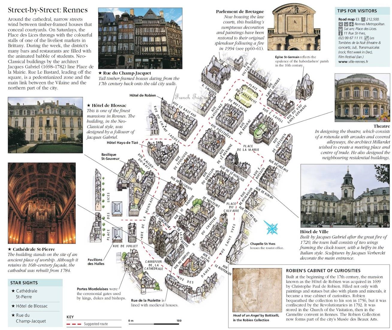 Карта Ренна